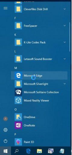 Microsoft Edge не запускается в Windows 10